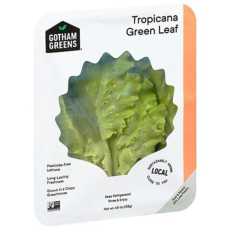 Gotham Greens Lettuce Tropicana Green Leaf - 4.5 Oz