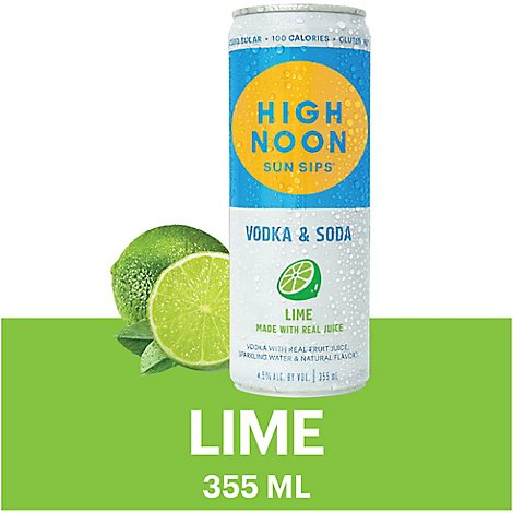 High Noon Lime In Can - 355 Ml