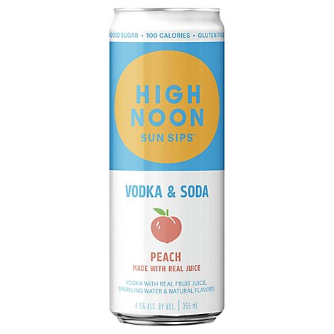 Highnoon Peach Vodka - 355 Ml