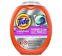 Tide Power Pods Laundry Detergent Pacs Hygienic Clean Spring Meadow - 48 Count