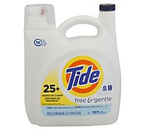 Tide Laundry Detergent Liquid Free & Gentle 107 Loads - 154 Fl. Oz.