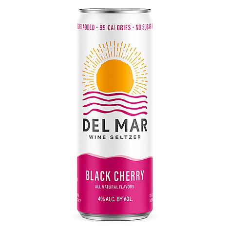 Del Mar Black Cherry Can Wine - 4-335 Ml