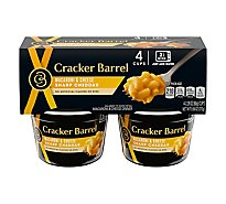 Cracker Barrel Sharp Cheddar Macaroni & Cheese Single Serve - 4-2.39 Oz