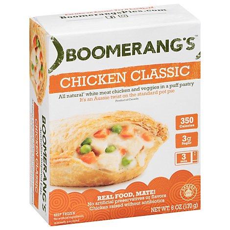 Boomerangs Pies Chicken Pot Pieaussie Crust 6 Oz Safeway