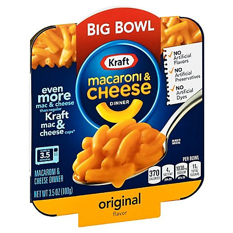 Kraft Mac & Cheese Original Single Serve Big Bowl - 3.5 Oz