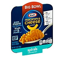 Kraft Mac & Cheese Spiral Single Serve Big Bowl - 3.5 Oz