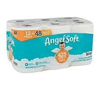 Angel Soft Toilet Paper 12 Mega Rolls 12 48 Regular Rolls Septic - 12 Roll