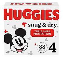 Huggies Snug And Dry Giga 4 - 88 Count