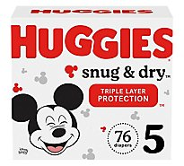 Huggies Snug And Dry Giga 5 - 76 Count