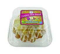 Cafe Valley Confetti Mini Bundt Cake - 3 Oz