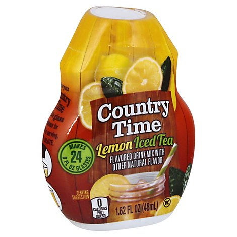 Country Time Liquid Concentrate Beverage Lemon Iced Tea Bottle - 1.62 Fl. Oz.