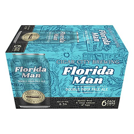Cigar City Florida Man Double Ipa In Cans - 6-12 Fl. Oz.