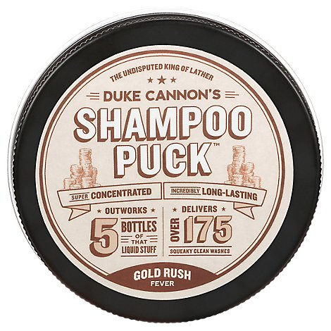 Duke Cannon Shampoo Puck Gold Rush - Each