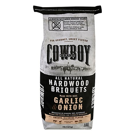 Cowboy Garlic & Onion Hardwood Briquets - 8 Lb