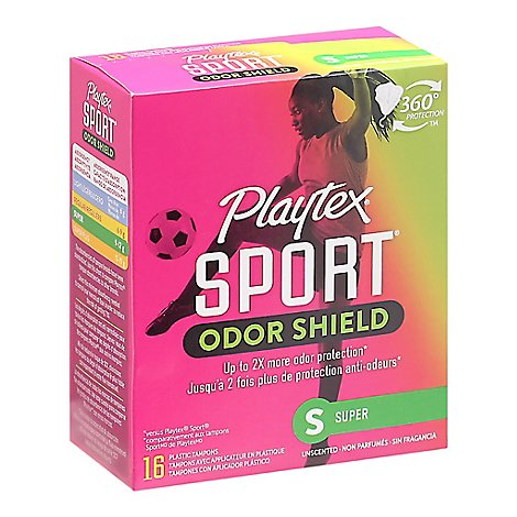 Playtex Tampon Sport Super Odor Shield - 16 Count