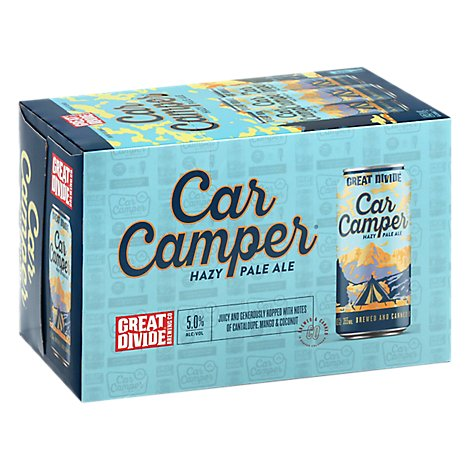 Great Divide Car Camper Hazy Pale Ale In Cans - 6-12 Fl. Oz.