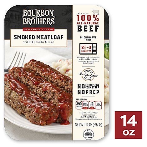 Bourbon Brothers Meatloaf Smoked With Tomato Glaze All Natural - 14 Oz