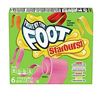 Fruit By The Foot Fruit Flavored Snacks Starburst 6 Count - 4.5 Oz