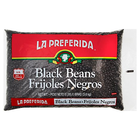 La Preferida Black Beans Cello - 8 Lb