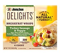 Jd Delights Breakfast Wrap Turkey Sausage & Veggie - 17 Oz