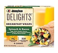Jd Delights Breakfast Wrap Spinach & Bacon - 17 Oz