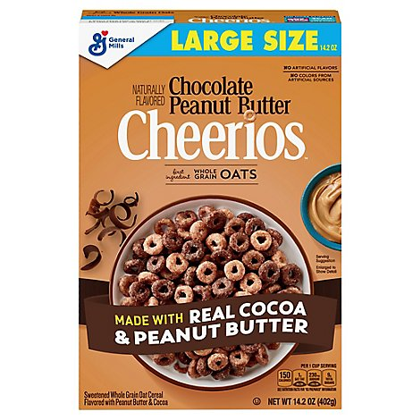 Cheerios Chocolate Peanut Butter Cereal - 14.2 Oz