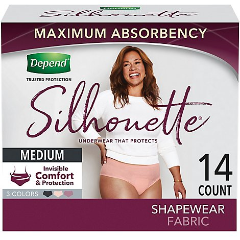 Depend Silhouette Maximum Absorbency Medium - 14 Count