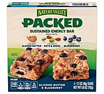 Nature Valley Packed Sustained Energy Bar Almond Butter & Blueberry - 4-1.7 Oz