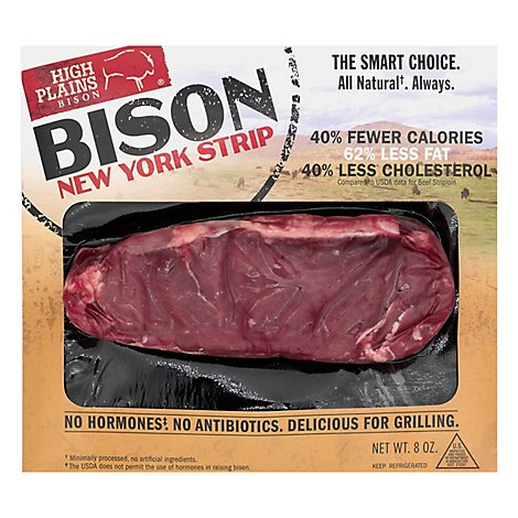High Plains Bison New York Strip All Natural - 8 Oz