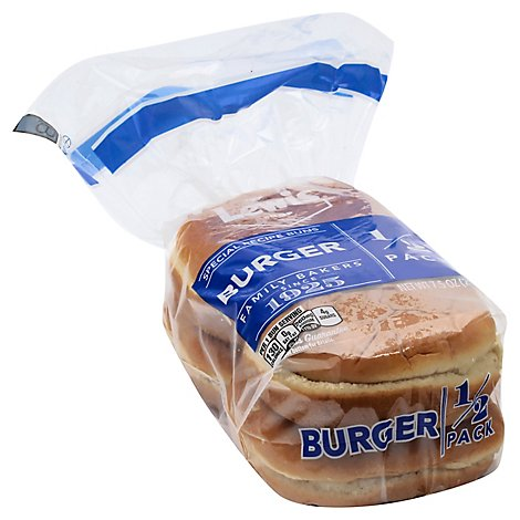 Lewis Bake Shop Hamburger Bun 1/2 Pack  4 Ct - 7.5 Oz