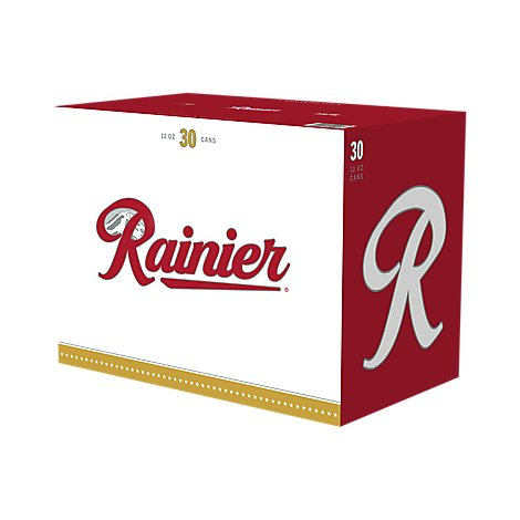 Rainier Beer Lager Cans - 30-12 Fl. Oz.