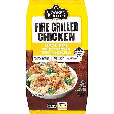 Cooked Perfect Lemon Herb Fire Grilled Chicken - 12 Oz.