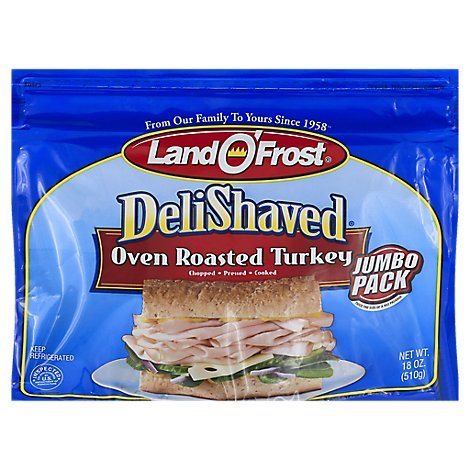Land OFrost Jumbo Deli Shaved Oven Roast Turkey - 18 Oz.