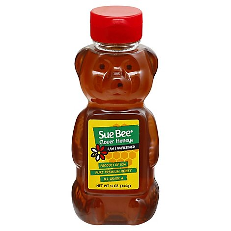Sue Bee Raw & Unfiltered Honey Bears - 12 Oz