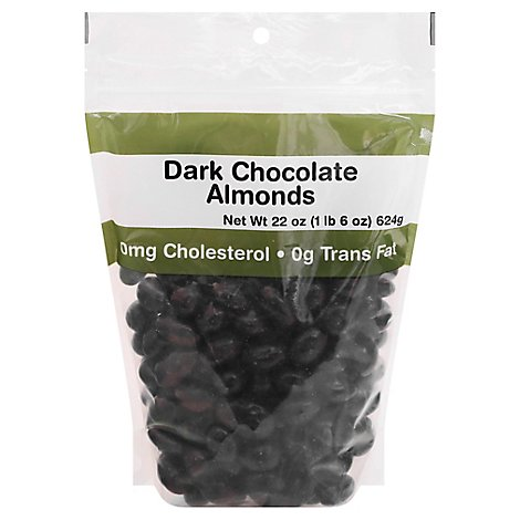 Dark Chocolate Almonds Prepackaged - 22 Oz.