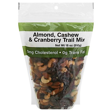 Almond Cashew And Cranberry Mix Prepackaged - 22 Oz.