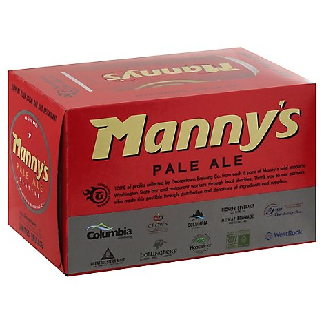 Georgetown Mannys Pale Ale In Cans - 6-12 Fl. Oz.