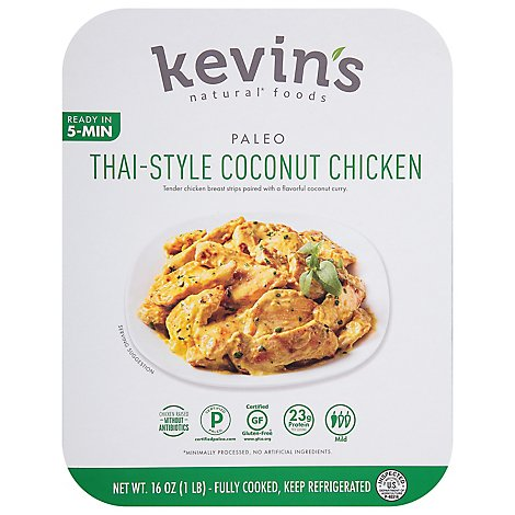 Kevins Natural Foods Thai Style Coconut Chicken - 16 Oz.