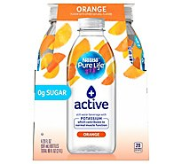 Nestle Pure Life Water Active With Potassium Orange Flavor Pack - 4-20 Fl. Oz.