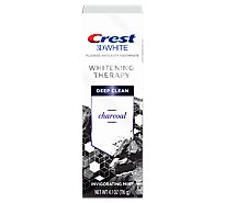 Crest 3dw Whitening Therapy Charcoal Toothpaste Invigorating Mint - 4.1 Oz