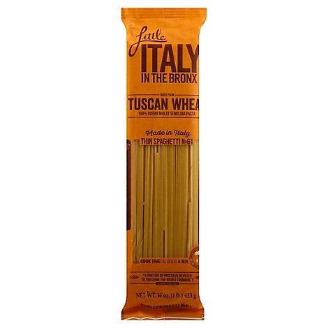 Little Italy In The Bronx Thin Spaghetti - 16 Oz