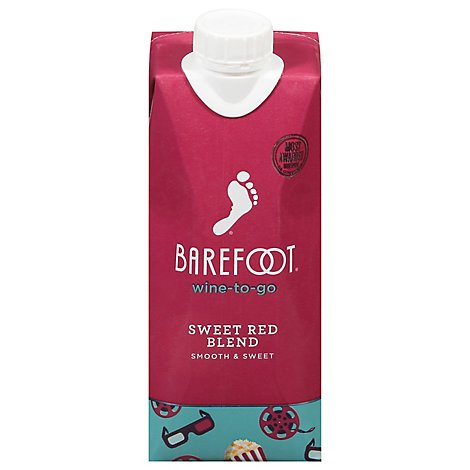 Barefoot Wine To Go Sweet Red Wine - 500 Ml