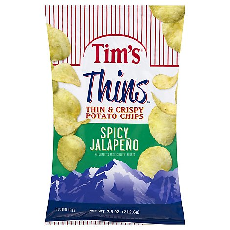 Tims Cascade Jalapeno Thins - 7.5 Oz