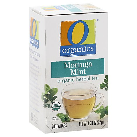 O Organics Tea Moringa Mint - 20 Count