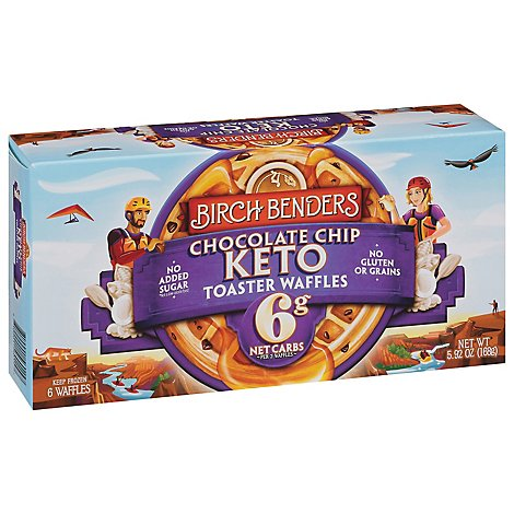 Birch Benders Frozen Waffles -Chocolate Chip Keto 6ct - 5.92 Oz