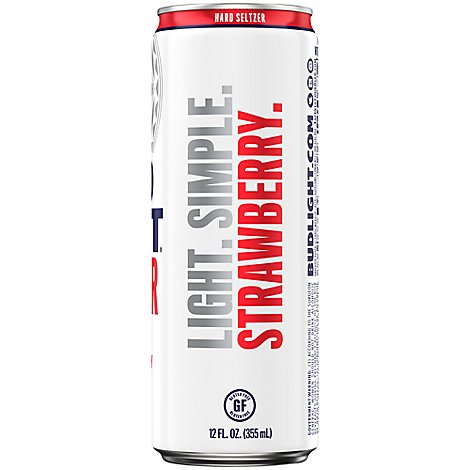 Bud Light Seltzer Strawberry In The Can - 12 Fl. Oz.