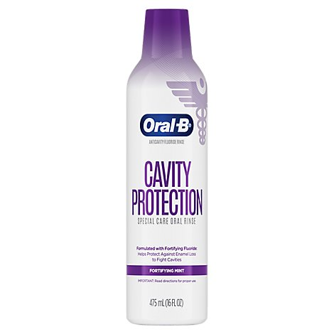 Oral B Cavity Protection Oral Rinse Fortifying Mint - 16 Fl. Oz.
