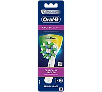 Oral B CrossAction Electric Toothbrush Head Replacement - 3 Count