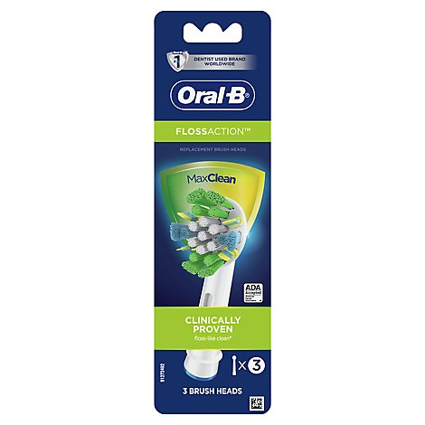 Oral-B FlossAction Electric Toothbrush Head Replacement - 3 Count