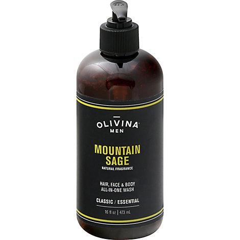 Olivina Mountain Sage Mens Body Wash - 16 Oz